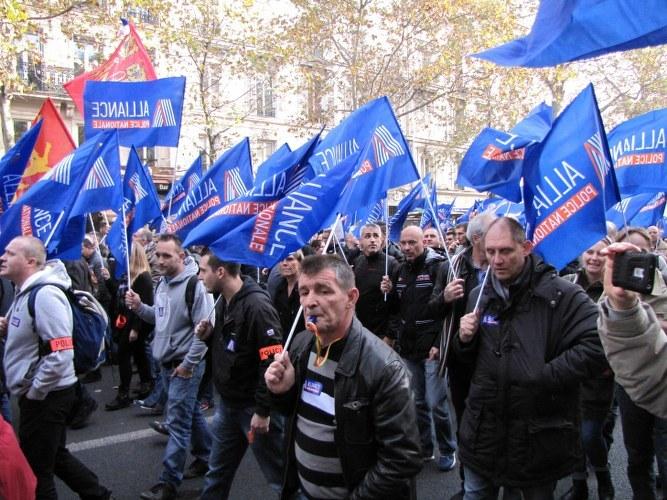 Protestujący policjanci /Marek Gładysz /RMF FM