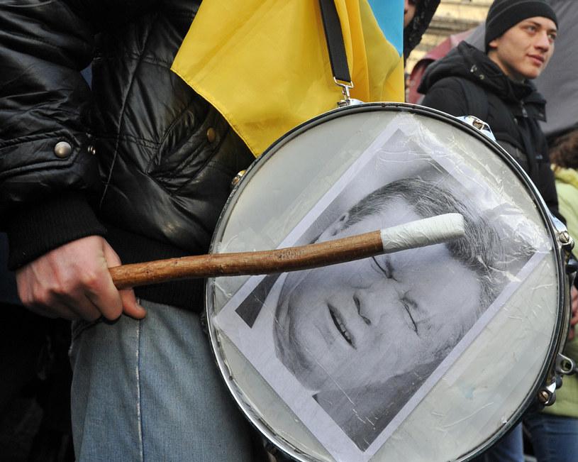 Protestujący przeciw polityce partii Janukowycza /AFP