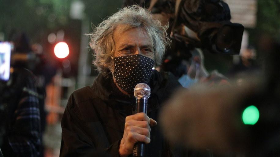 Protestujący przed Sejmem /Jakub Rutka /RMF FM