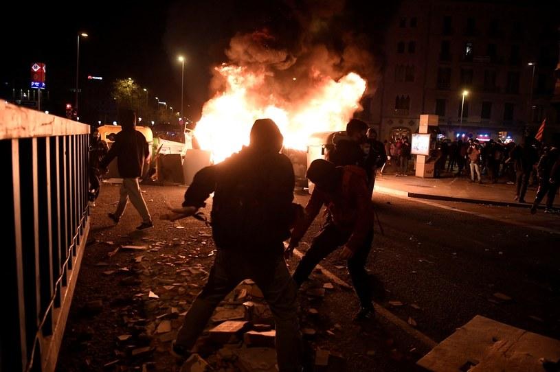 Protestujący w Barcelonie /JOSEP LAGO / AFP /AFP