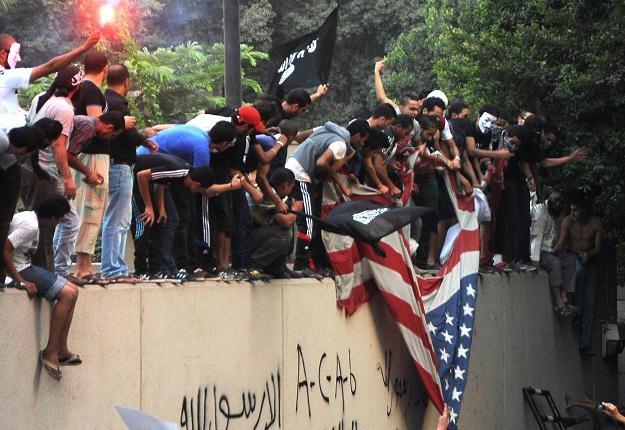 Protestujący w Egipcie. Kair, 11 września 2012 /AFP