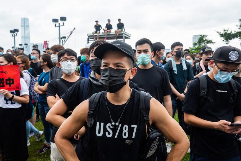 Protestujący w Hongkonkgu /East News