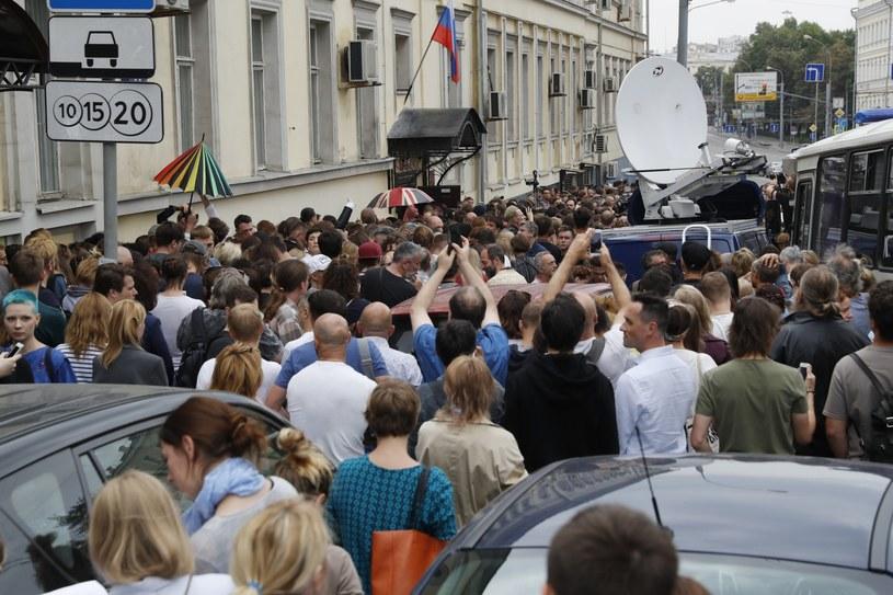 Protestujący w obronie Kiriłła Sieriebriennikowa /Sergei Ilnitsky /PAP/EPA