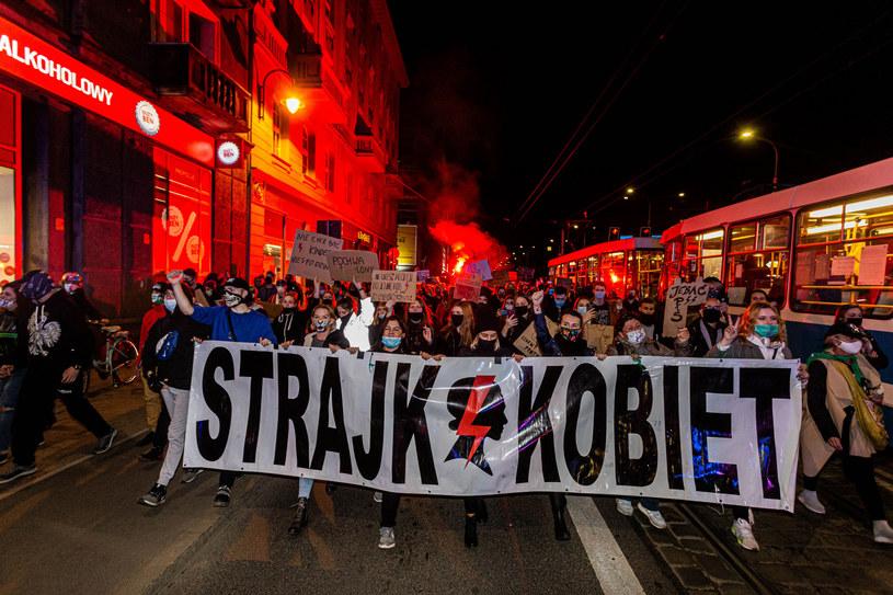 Protestujący we Wrocławiu (28.10.2020) /Krzysztof Kaniewski/REPORTER /Reporter