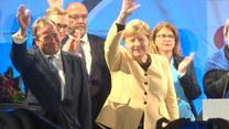 Protestujący zakłócili przemówienie Angeli Merkel na wiecu wyborczym