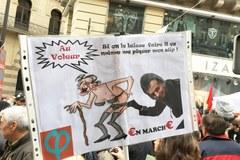 Protesty emerytów przeciwko polityce prezydenta Macrona