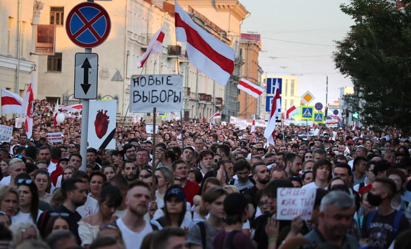 Protesty na Białorusi po wyborach /TATYANA ZENKOVICH  /PAP/EPA