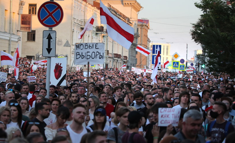 Білорусь. 100 000 людей на марші свободи.