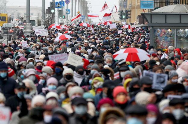 Protesty na Białorusi trwają już pół roku / STR   /PAP/EPA