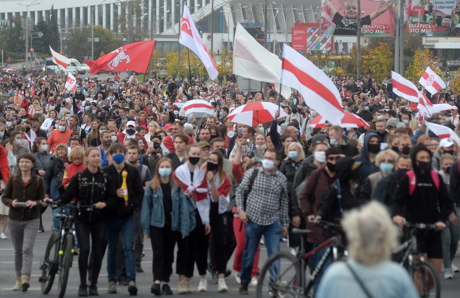 Protesty na Białorusi trwają od 9 sierpnia / STR   /PAP/EPA