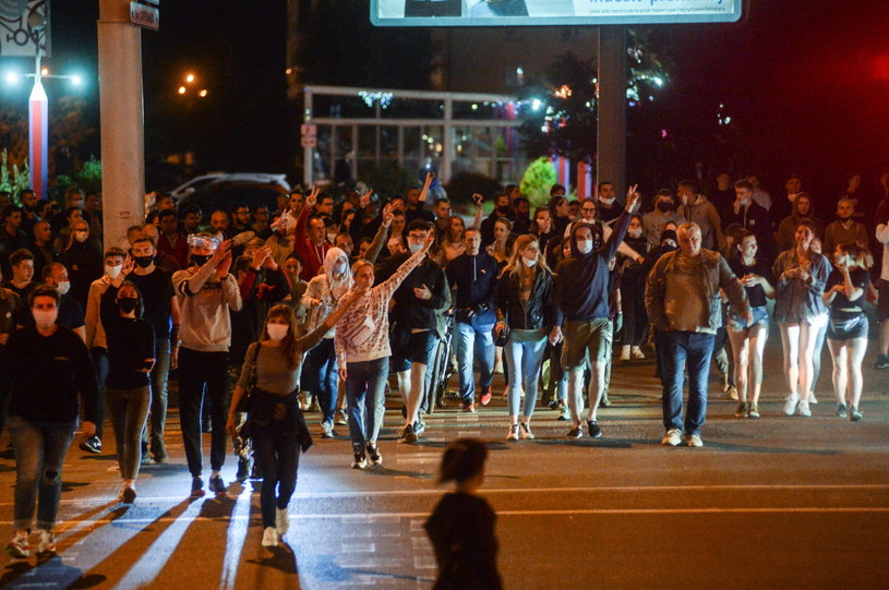 Protesty na Białorusi /YAUHEN YERCHAK /PAP/EPA
