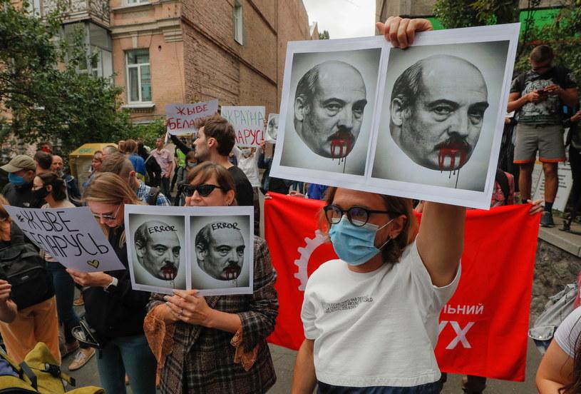 Protesty na Białorusi /SERGEY DOLZHENKO /PAP/EPA