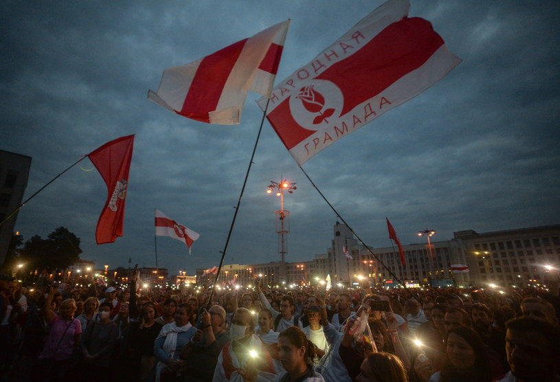 Protesty na Białorusi /YAUHEN YERCHAK /PAP