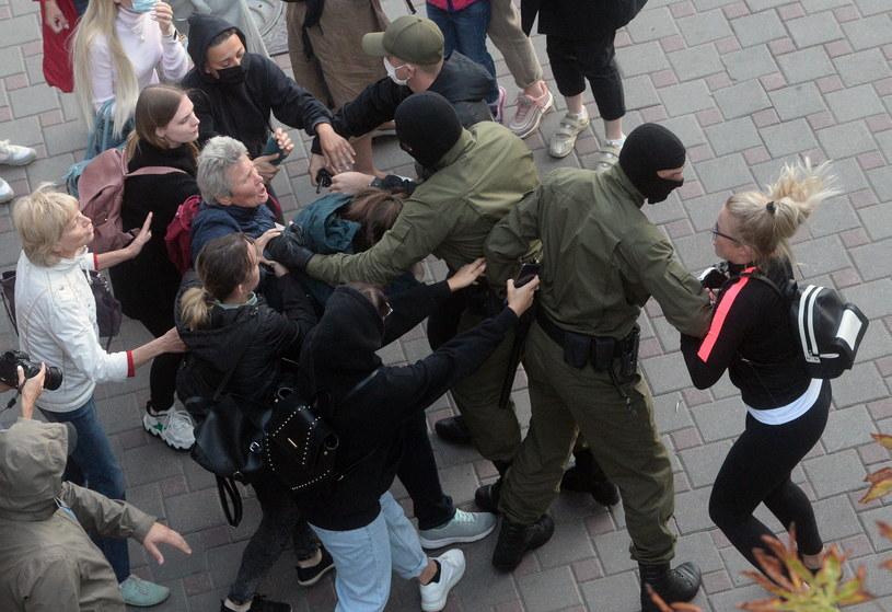 Protesty na Białorusi /STRINGER /PAP/EPA