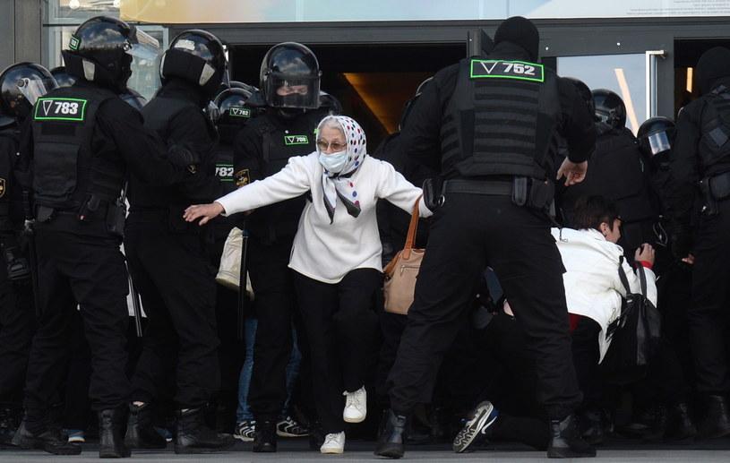 Protesty na Białorusi / STR   /PAP/EPA