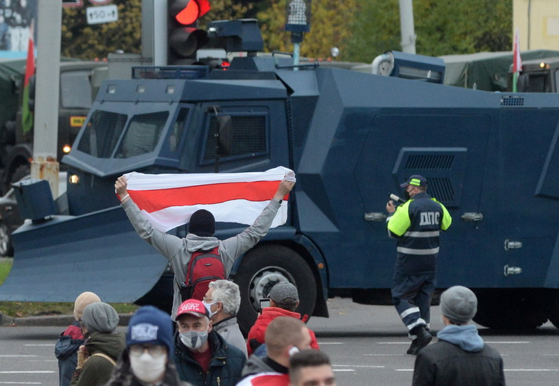 Protesty na Białorusi /PAP/EPA/STR /PAP/EPA