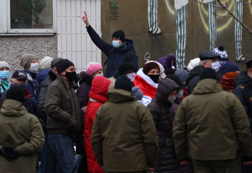 Protesty na Białorusi /PAP/EPA