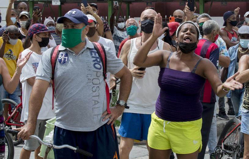 Protesty na Kubie /AP/Associated Press/East News /East News