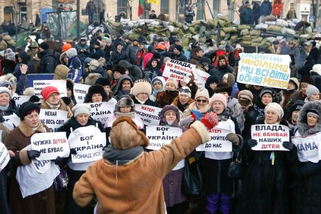 Protesty na Ukrainie trwają od listopada ub. roku /SERGEY DOLZHENKO /PAP/EPA