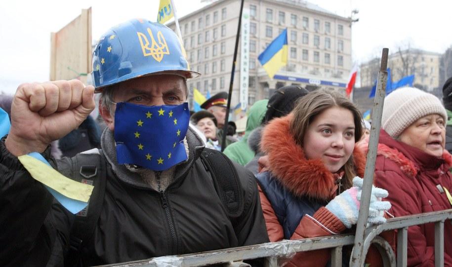 Protesty na Ukrainie trwają od listopada /IGOR KOVALENKO /PAP/EPA