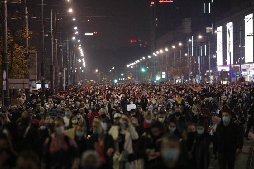 Protesty na ulicach Warszawy /Andrzej Hulimka  /Agencja FORUM