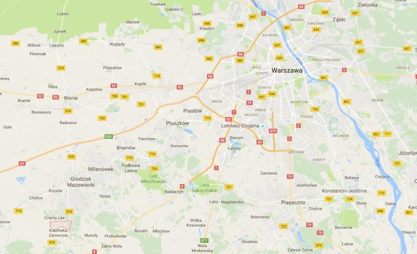 Protesty odbędą się m.in na dk nr 8 i 7 /google.maps /