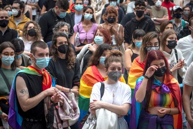 Protesty po śmiertelnym pobiciu homoseksualisty W Hiszpanii /BRAIS LORENZO /PAP/EPA