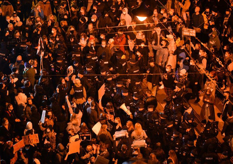 Protesty po wyroku TK w sprawie aborcji, zdjęcie archiwalne /Artur Widak/NurPhoto /Getty Images