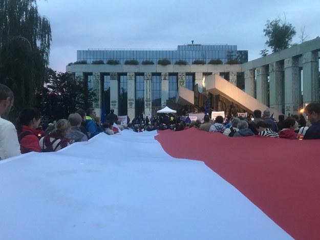 Protesty pod Sądem Najwyższym dotyczące nowelizacji ustaw o sądownictwie /Michał Dobrołowcz /Michał Dobrołowicz, RMF FM