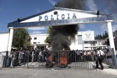 Protesty policji i wojska w Ekwadorze