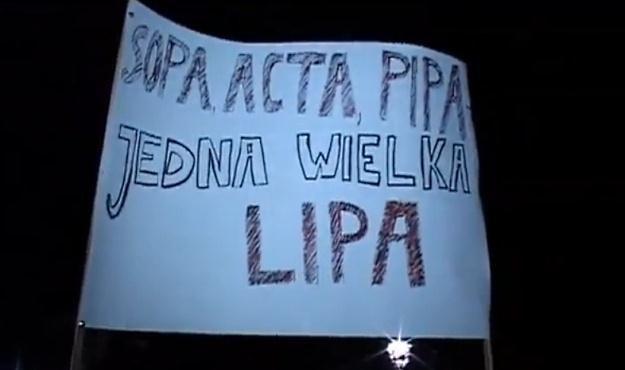 Protesty przeciwko ACTA w Krakowie nie zostały zgłoszone policji /INTERIA.PL
