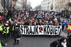 Protesty przeciwko zaostrzeniu przepisów aborcyjnych w Warszawie