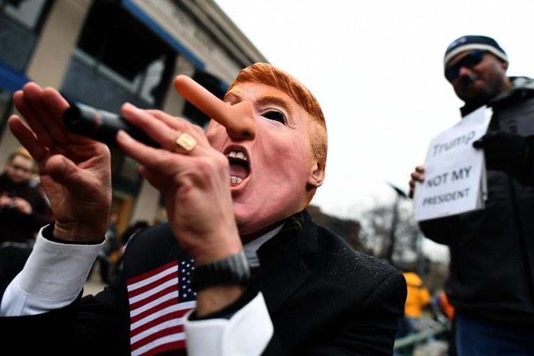 Protesty przed inauguracją Donalda Trumpa /AFP