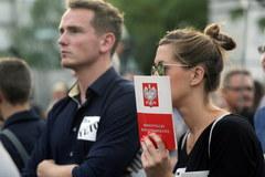 Protesty przed Pałacem Prezydenckim w Warszawie