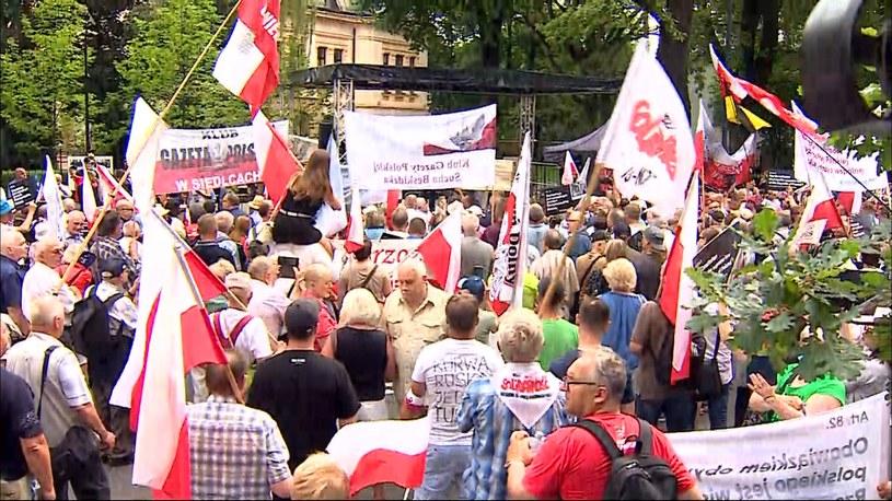Protesty przed Trybunałem Konstytucyjnym /Polsat News