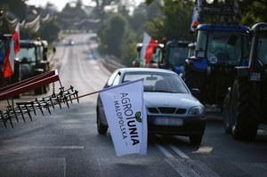 Protesty rolników AgroUnii. Drugi dzień blokad na drogach