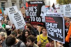Protesty studentów w Londynie