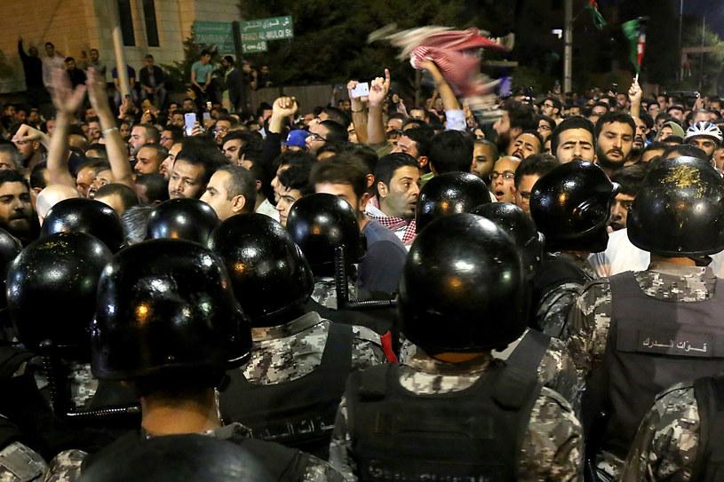 Protesty w Ammanie /STRINGER /AFP