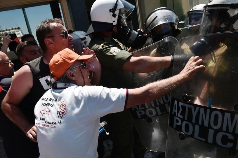 Protesty w Atenach przeciw zwolnieniom z pracy, 2017 rok /AFP