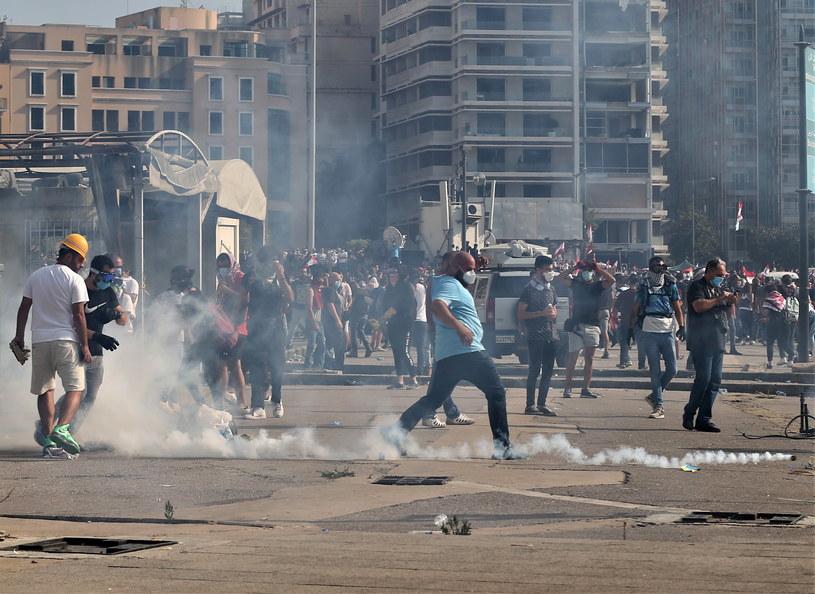 Protesty w Bejrucie /PAP/EPA