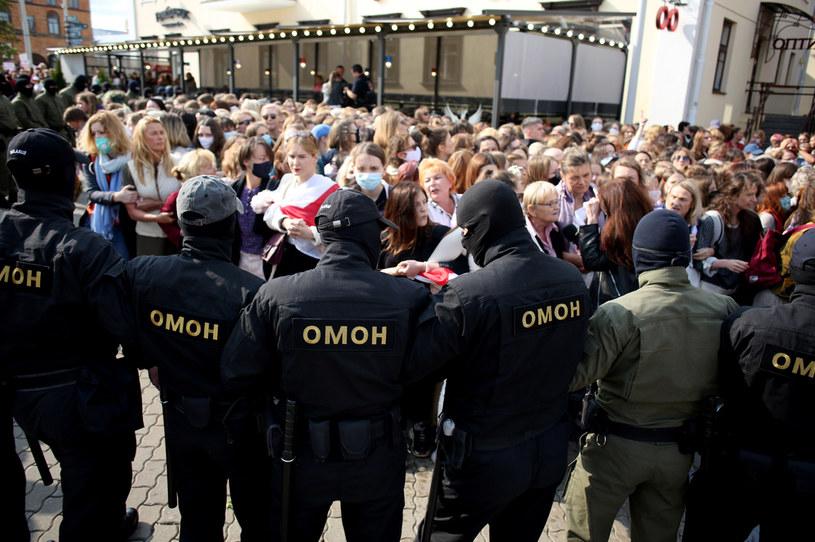 Protesty w Białorusi /AFP