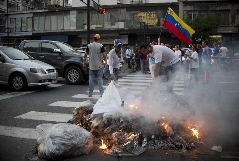 Protesty w Caracas /AFP