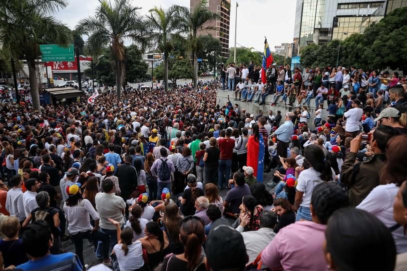 Protesty w Caracas /Miguel Gutierrez /PAP/EPA