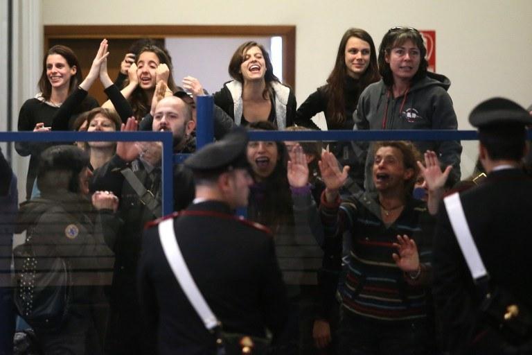 Protesty w czasie procesu przeciwników kolei /MARCO BERTORELLO /AFP
