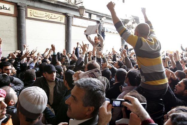 Protesty w Damaszku /AFP
