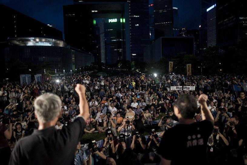 Protesty w Hongkongu /AFP