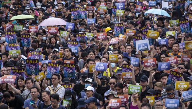 Protesty w Hongkongu /CHAN LONG HEI  /PAP/EPA