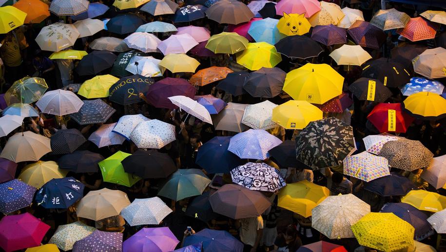Protesty w Hongkongu /ALEX HOFFORD /PAP/EPA