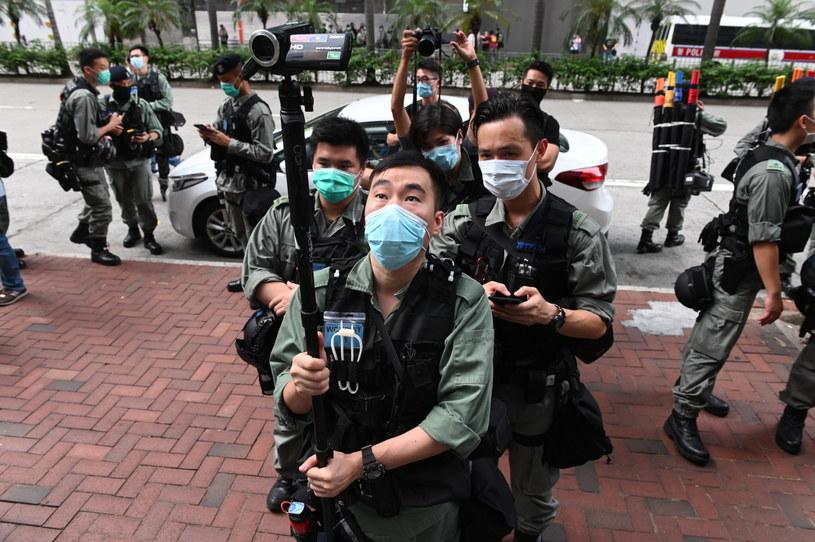 Protesty w Hongkongu /MIGUEL CANDELA /PAP/EPA