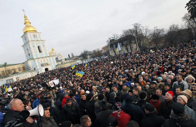Protesty w Kijowie /PAP/EPA